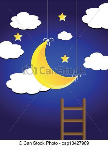 Clipart night sky.