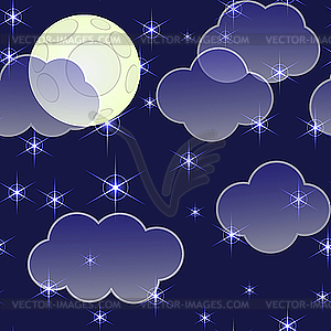 Night clouds clipart.