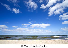 Picture of Evening on the coast of the Baltic Sea, Ruegen Island.