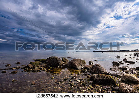 Stock Photo of Foundlings on shore of the Baltic Sea k28657542.
