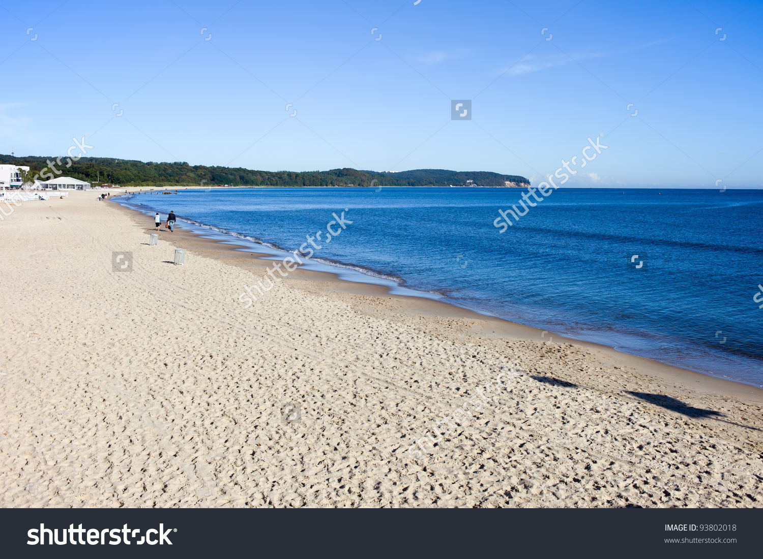 Sandy Beach At The Southern Coast Of The Baltic Sea In Sopot.