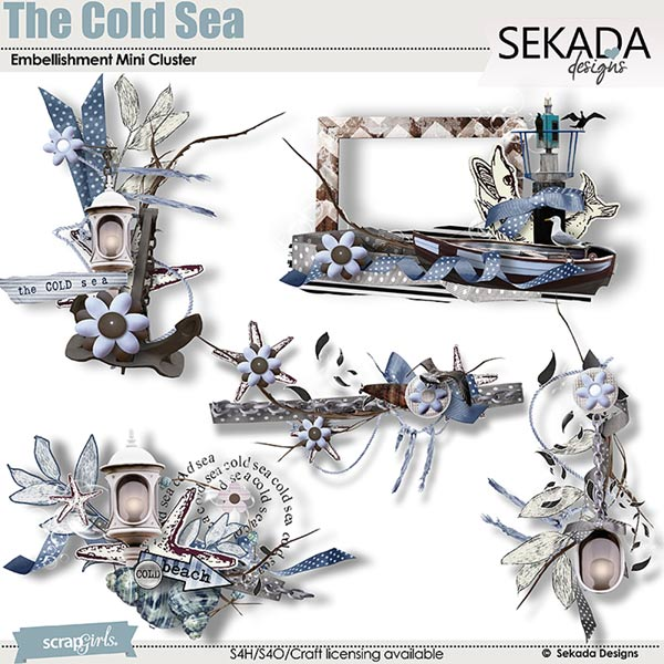 The Cold Sea Embellishment Mini Cluster.