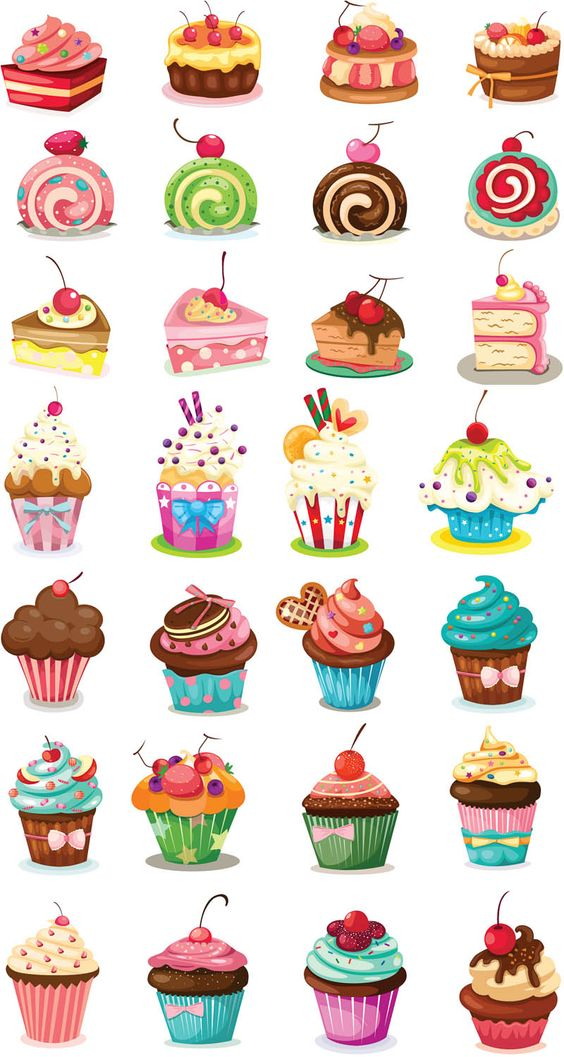 Happy Birthday Cupcake Clip Art 6.