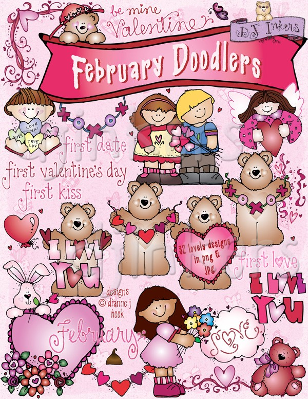Monthly Doodlers Clip Art Downloads.