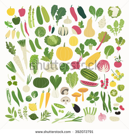 Great Collection Clip Art Vegetables Stock Vector 182370083.