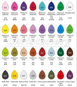 Set of 32 Color Brilliance Dew Drop Ink Pad Quick Drying Water.