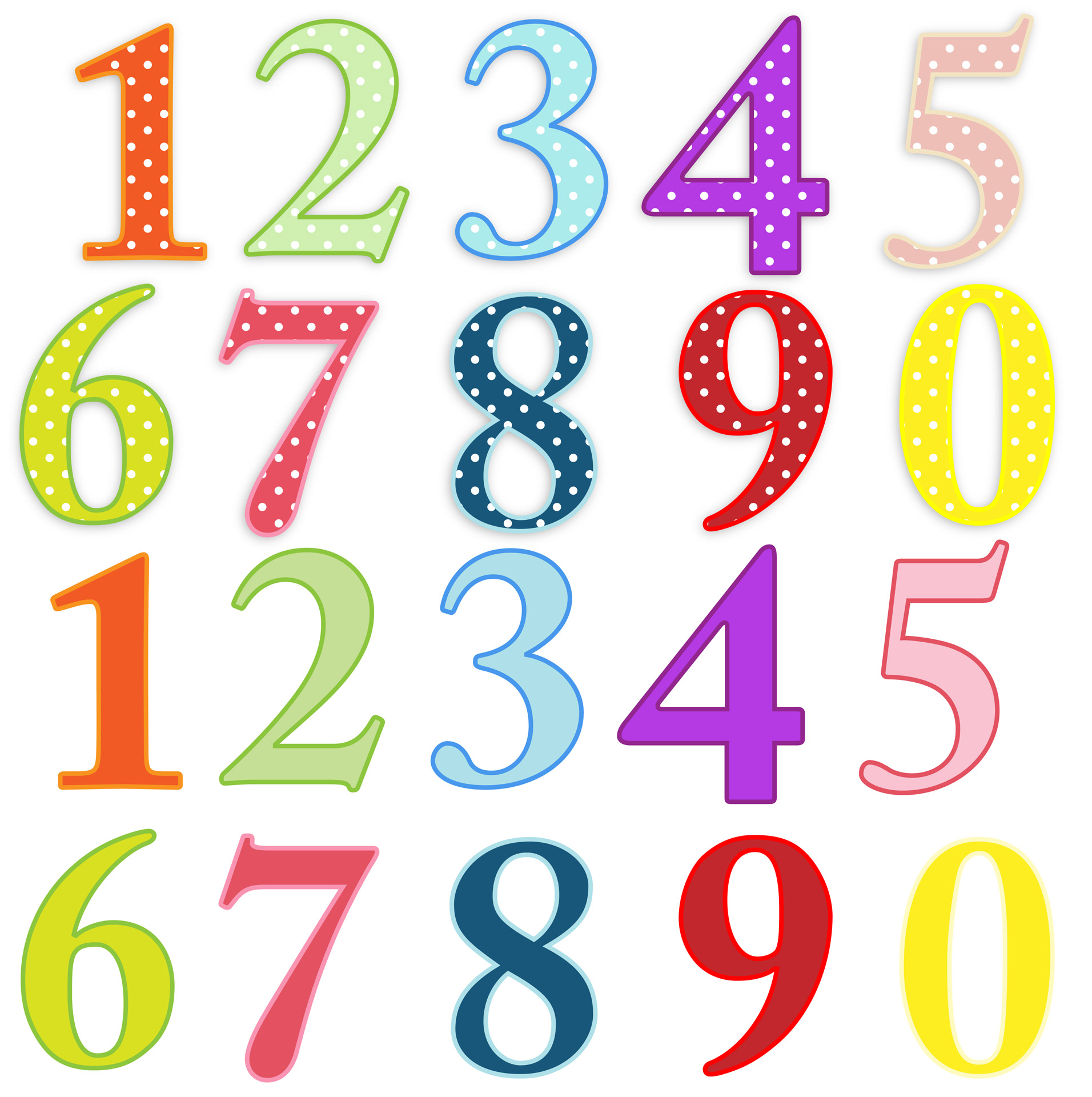 Numbers Colorful Clip.