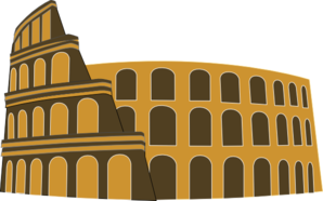 Colosseum Rome Simplified Brown Gold Clip Art at Clker.com.