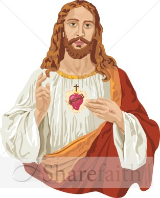 Jesus Christ and the Sacred Heart.