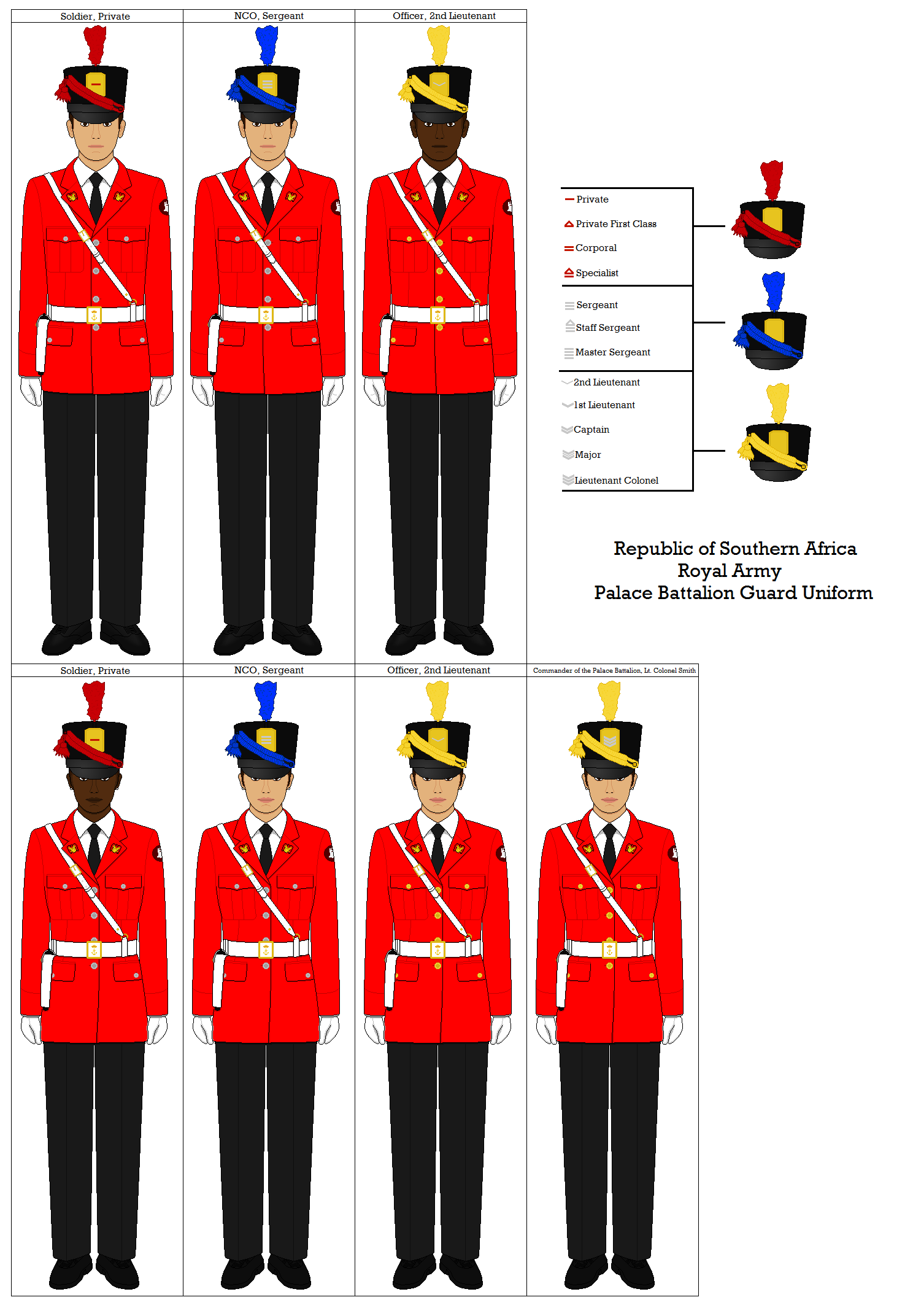 RSA Royal Army Palace Guard Uniform by CC.