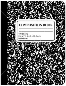 Composition Book Clipart.