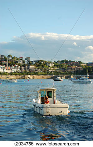 Stock Images of Recreation Ship in Concha Bay. San Sebastian.