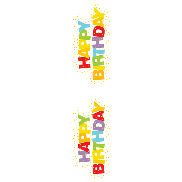 Happy Birthday Stickers Pkg/2.