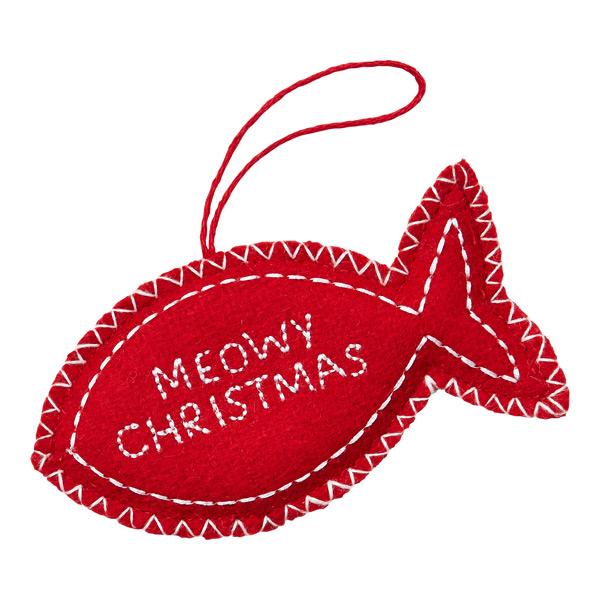 Meowy Christmas Fish Tie.