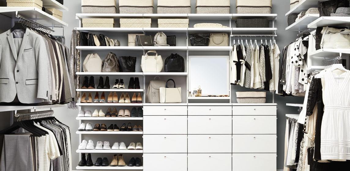 elfa Custom Closet Shelving, Organizer Systems & Custom.