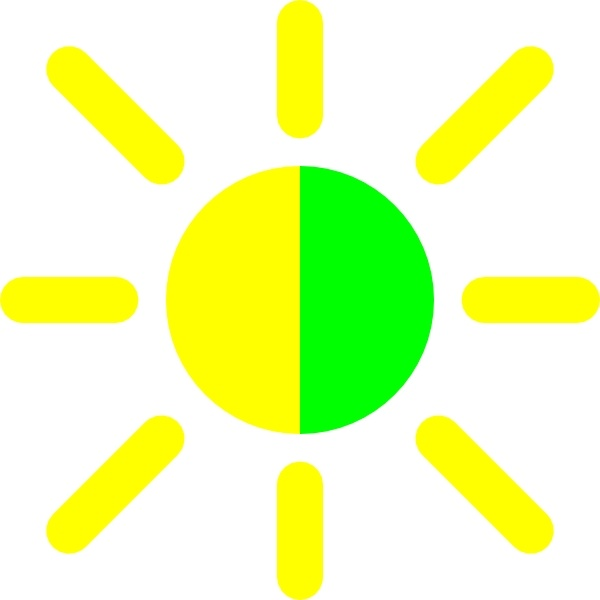 Brightness Contrast Icon clip art Free vector in Open office.