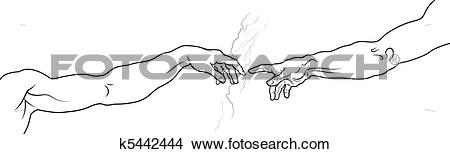 Clipart of The Creation of Adam. Fragment (Full version) k5442444.
