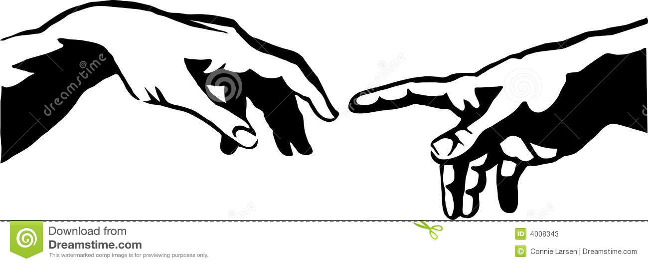 The creation of adam clipart.