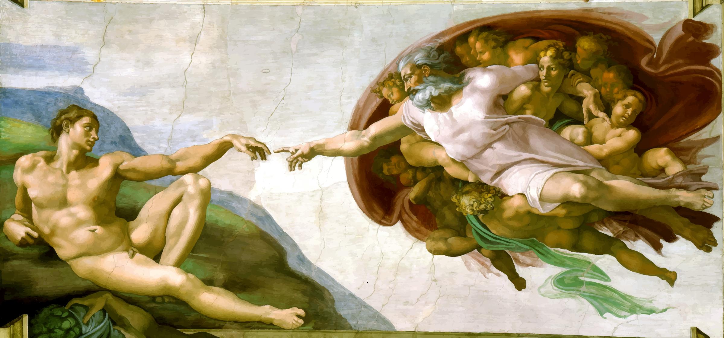Creation of adam clipart.