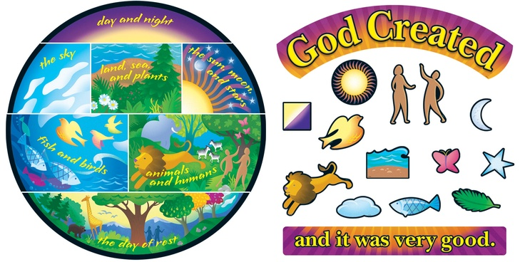 7 days of creation clipart.