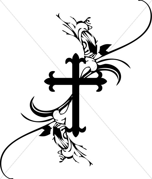 French Cross Clipart.