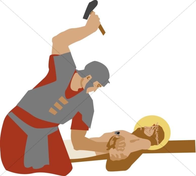 Simon of Cyrene Taking the Cross.