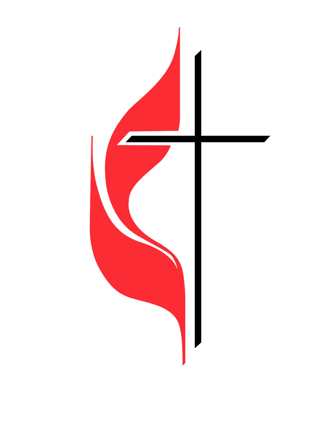 United Methodist Church Cross And Flame Clipart.