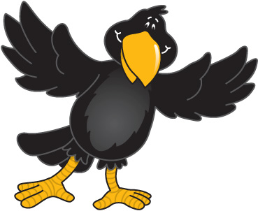 The crow clipart.