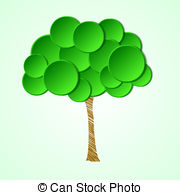 Vector of Abstract Crown of the Tree Shape of a Human Head and.