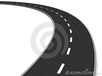 The curve of road clipart - Clipground