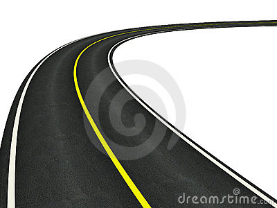 The curve of road clipart #11