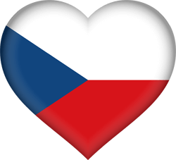 The Czech Republic flag clipart.