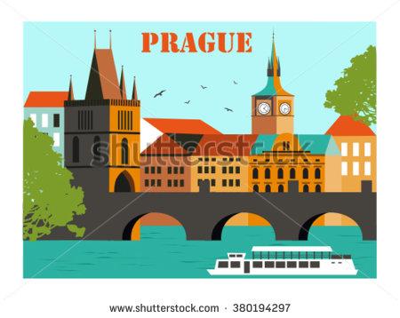Prague Czech Republic Clip Art.