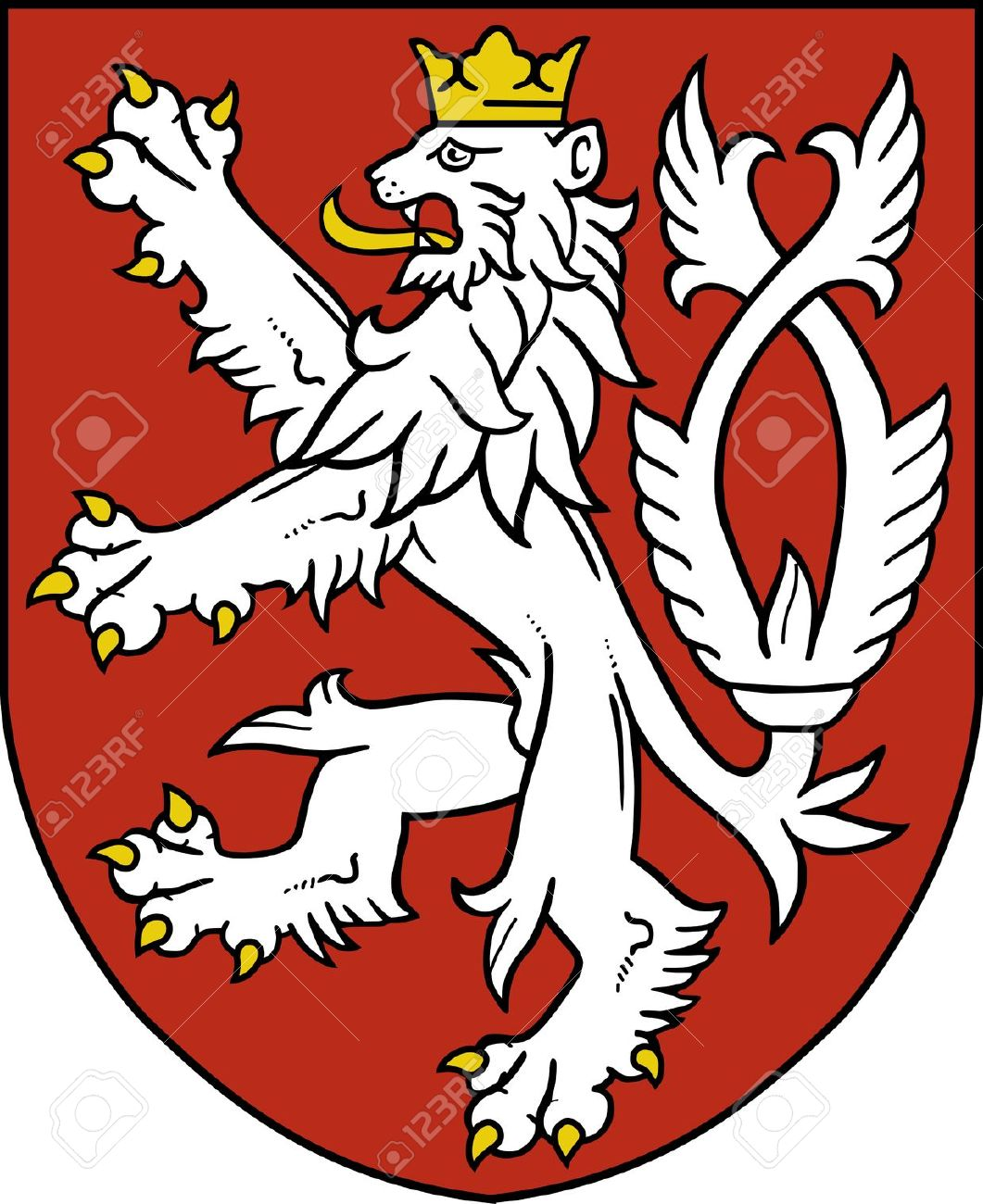 Small Coat Of Arms Of The Czech Republic Royalty Free Cliparts.
