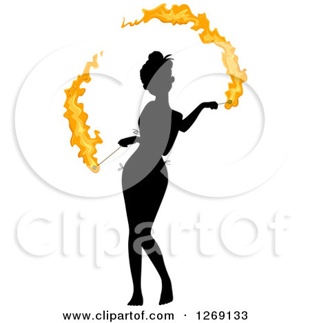 Clipart Blue Flame Design Elements Forming Shapes.