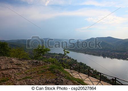 Stock Image of Danube bend in Hungary.