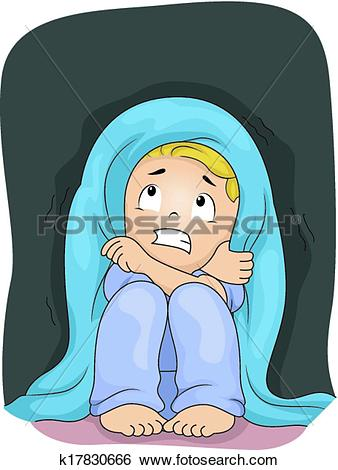 Clip Art of Scared of the Dark k17830666.