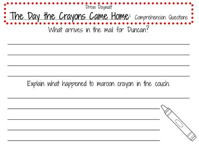 The Day The Crayons Clipart.