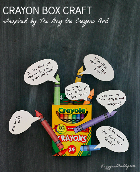 Crayon Box Craft Inspired by The Day the Crayons Quit.