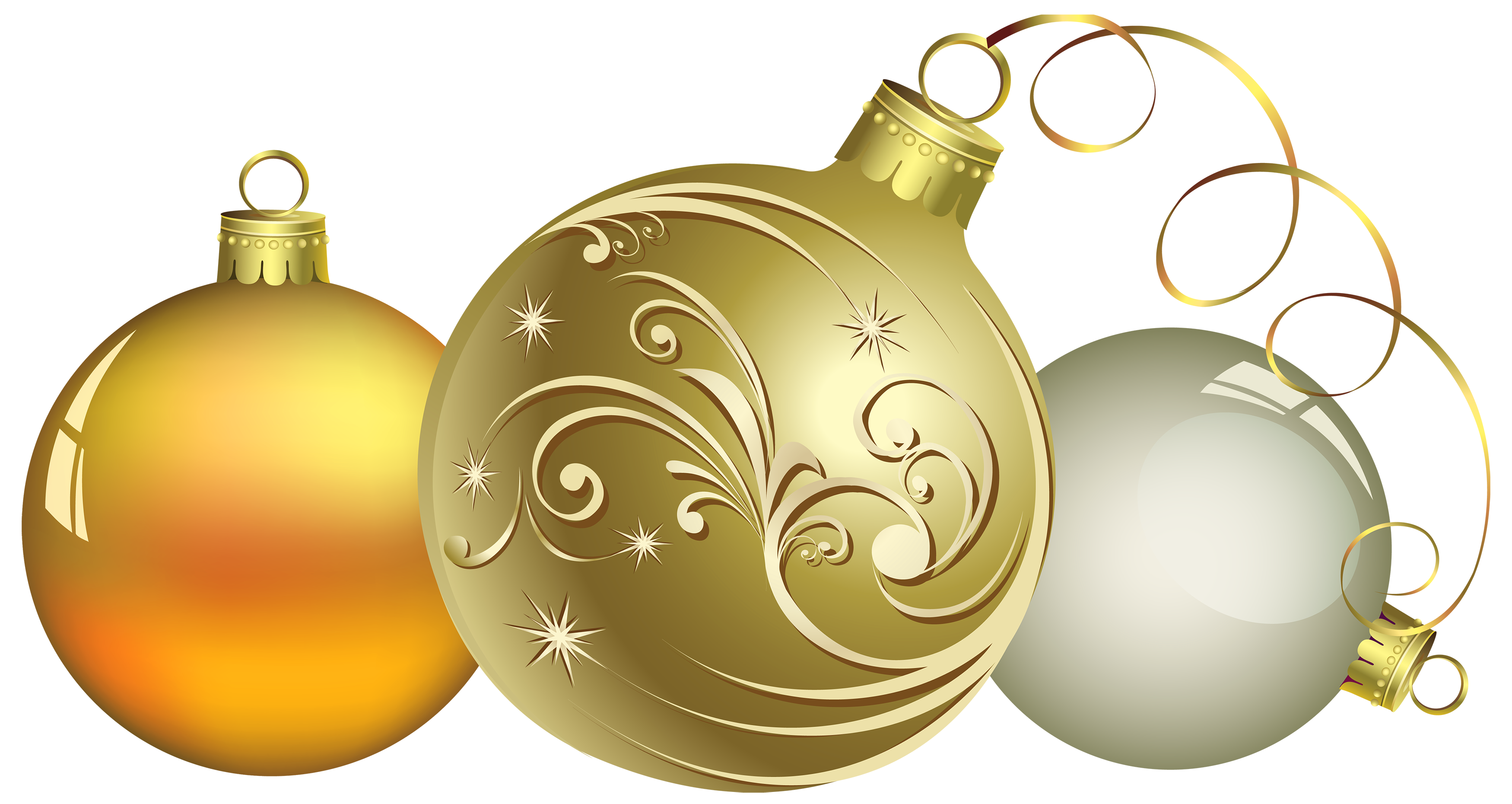 Christmas Ball Decor PNG Clipart.