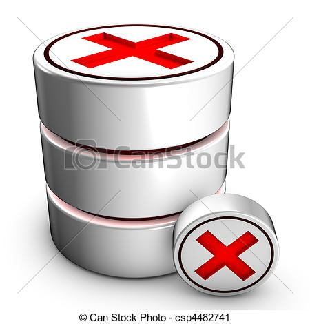 Clipart of Database deletion.