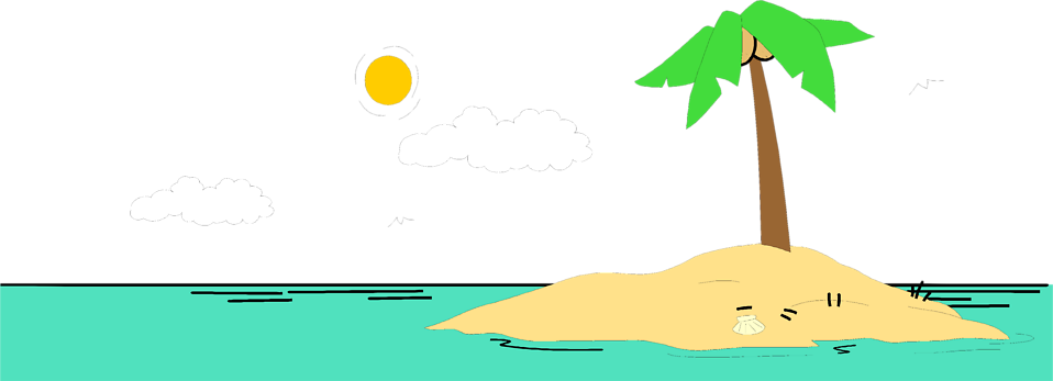 Clipart desert island.