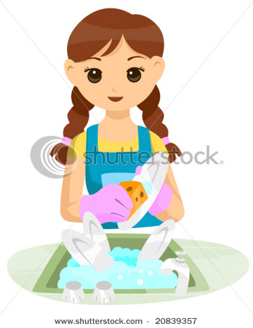 Clean dishes clipart.