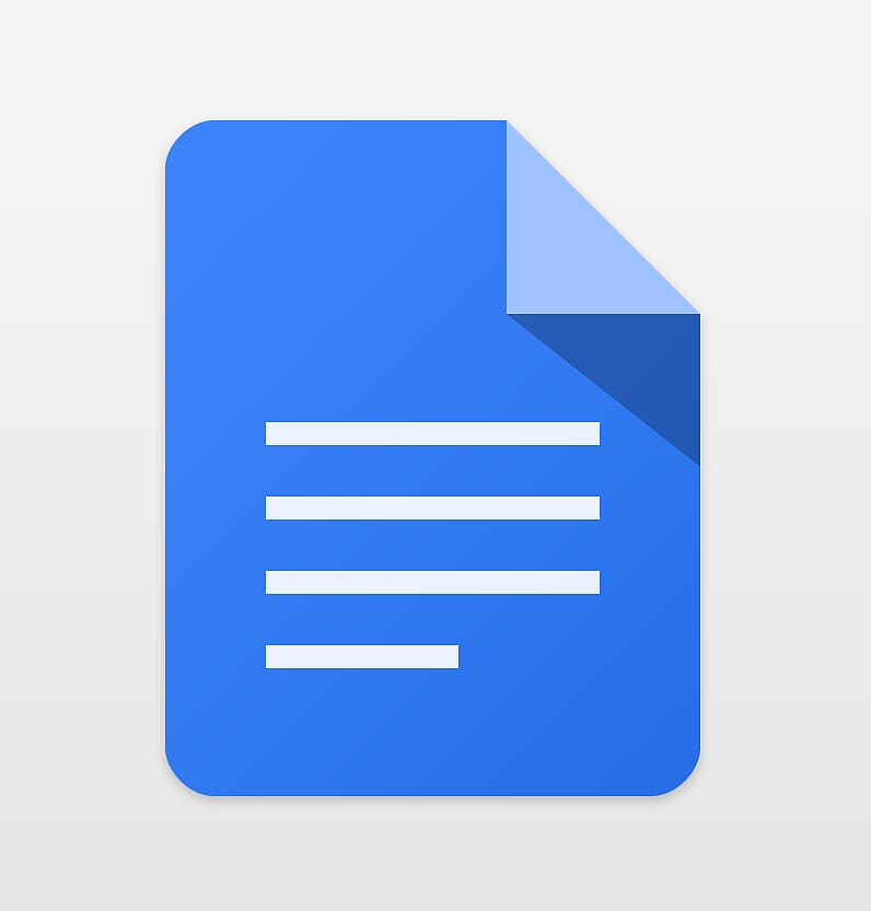 Google Docs , Doc transparent background PNG clipart.