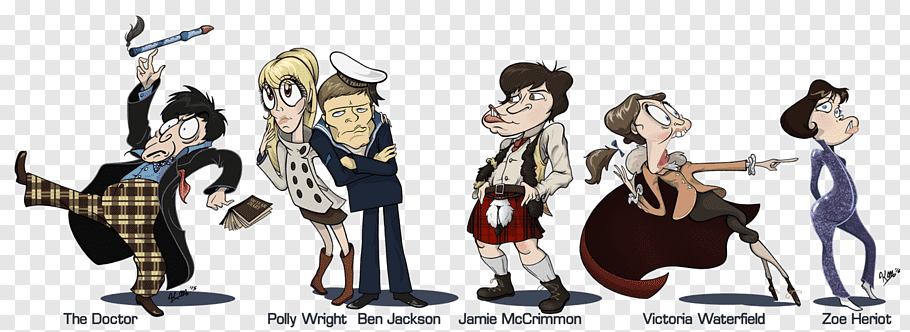Second Doctor Jamie McCrimmon Companion Drawing, doctor who.