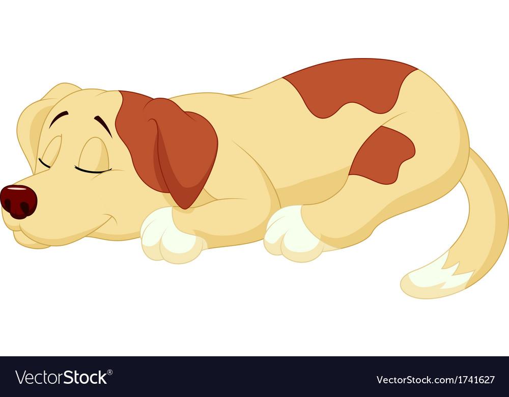 Cute dog cartoon sleeping.