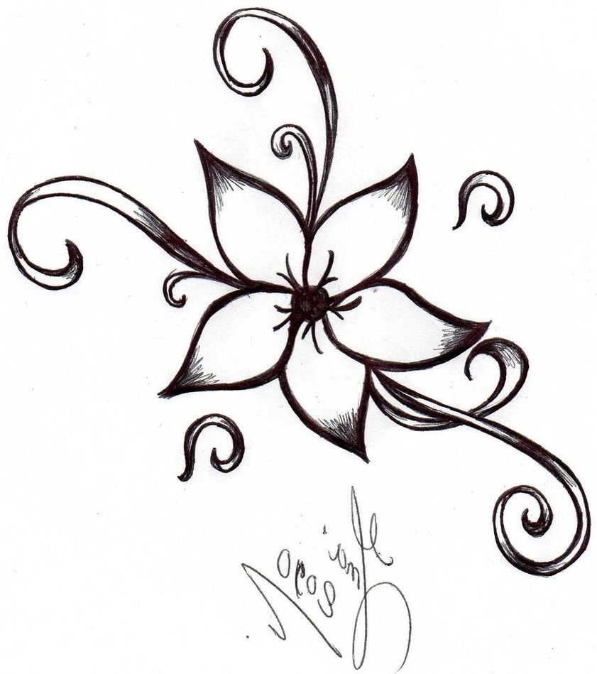 flower drawing clipart #11