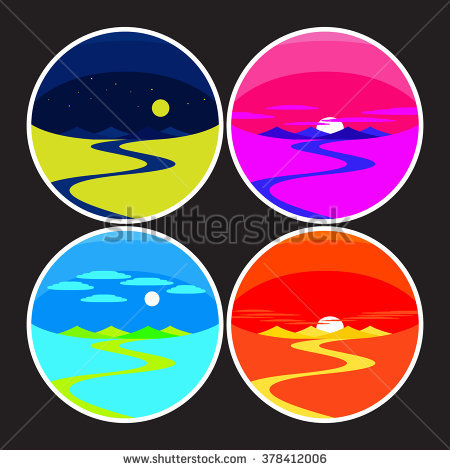 Dawn To Dusk Stock Vectors & Vector Clip Art.