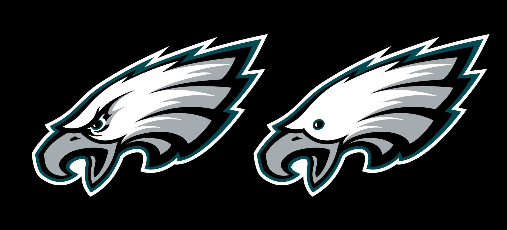 The Philadelphia Eagles logo without eyebrows : eagles.