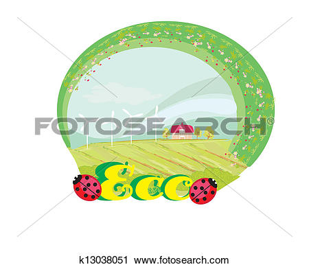 Clipart of Eco label k13038051.